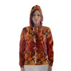 Abstraction Abstract Pattern Hooded Wind Breaker (women)