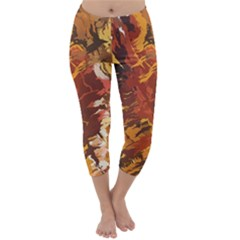 Abstraction Abstract Pattern Capri Winter Leggings