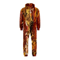 Abstraction Abstract Pattern Hooded Jumpsuit (Kids)