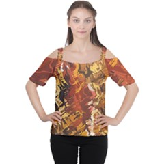 Abstraction Abstract Pattern Women s Cutout Shoulder Tee