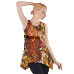 Abstraction Abstract Pattern Side Drop Tank Tunic