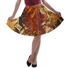 Abstraction Abstract Pattern A-line Skater Skirt