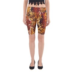 Abstraction Abstract Pattern Yoga Cropped Leggings