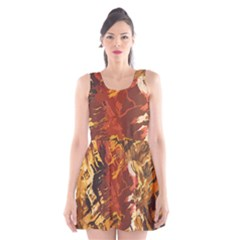 Abstraction Abstract Pattern Scoop Neck Skater Dress