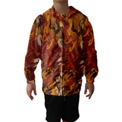 Abstraction Abstract Pattern Hooded Wind Breaker (Kids)