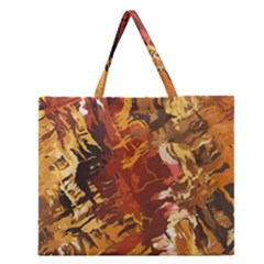 Abstraction Abstract Pattern Zipper Large Tote Bag