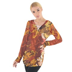 Abstraction Abstract Pattern Women s Tie Up Tee