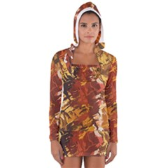 Abstraction Abstract Pattern Women s Long Sleeve Hooded T-shirt