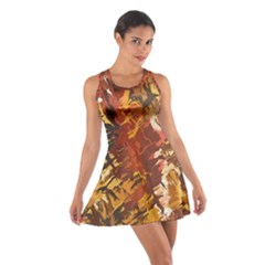 Abstraction Abstract Pattern Cotton Racerback Dress