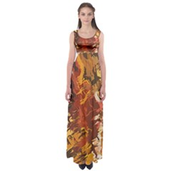 Abstraction Abstract Pattern Empire Waist Maxi Dress