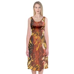 Abstraction Abstract Pattern Midi Sleeveless Dress