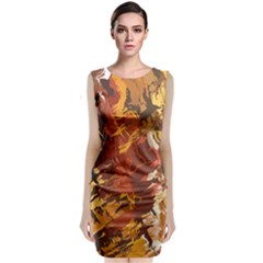Abstraction Abstract Pattern Classic Sleeveless Midi Dress