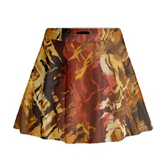 Abstraction Abstract Pattern Mini Flare Skirt