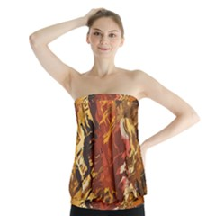 Abstraction Abstract Pattern Strapless Top