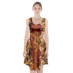 Abstraction Abstract Pattern Racerback Midi Dress