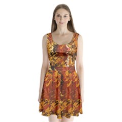 Abstraction Abstract Pattern Split Back Mini Dress