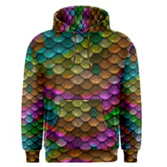 Fish Scales Pattern Background In Rainbow Colors Wallpaper Men s Pullover Hoodie