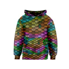 Fish Scales Pattern Background In Rainbow Colors Wallpaper Kids  Pullover Hoodie
