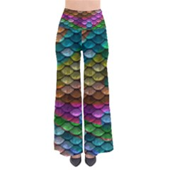 Fish Scales Pattern Background In Rainbow Colors Wallpaper Pants