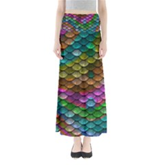 Fish Scales Pattern Background In Rainbow Colors Wallpaper Maxi Skirts