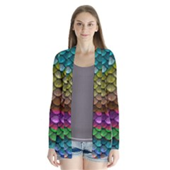 Fish Scales Pattern Background In Rainbow Colors Wallpaper Cardigans