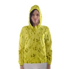 Flowery Yellow Fabric Hooded Wind Breaker (Women)