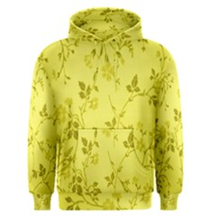 Flowery Yellow Fabric Men s Pullover Hoodie