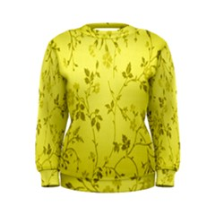 Flowery Yellow Fabric Women s Sweatshirt