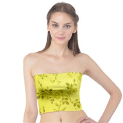 Flowery Yellow Fabric Tube Top