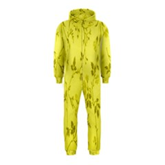 Flowery Yellow Fabric Hooded Jumpsuit (kids)