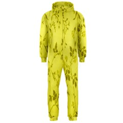 Flowery Yellow Fabric Hooded Jumpsuit (Men)