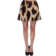 Giraffe Texture Yellow And Brown Spots On Giraffe Skin Skater Skirt