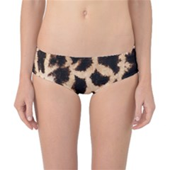 Giraffe Texture Yellow And Brown Spots On Giraffe Skin Classic Bikini Bottoms