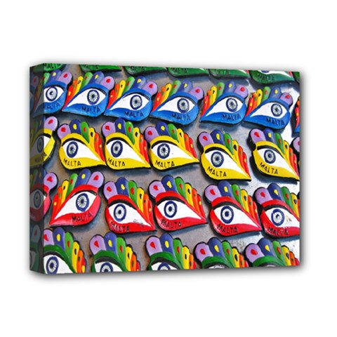The Eye Of Osiris As Seen On Mediterranean Fishing Boats For Good Luck Deluxe Canvas 16  x 12