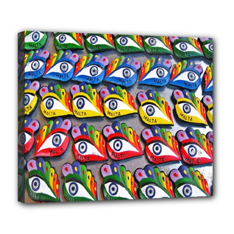 The Eye Of Osiris As Seen On Mediterranean Fishing Boats For Good Luck Deluxe Canvas 24  x 20