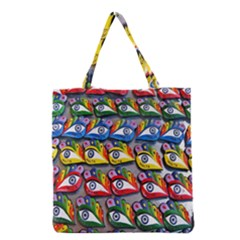 The Eye Of Osiris As Seen On Mediterranean Fishing Boats For Good Luck Grocery Tote Bag