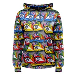 The Eye Of Osiris As Seen On Mediterranean Fishing Boats For Good Luck Women s Pullover Hoodie