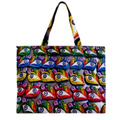 The Eye Of Osiris As Seen On Mediterranean Fishing Boats For Good Luck Zipper Mini Tote Bag