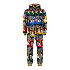 The Eye Of Osiris As Seen On Mediterranean Fishing Boats For Good Luck Hooded Jumpsuit (kids)
