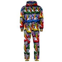 The Eye Of Osiris As Seen On Mediterranean Fishing Boats For Good Luck Hooded Jumpsuit (men)