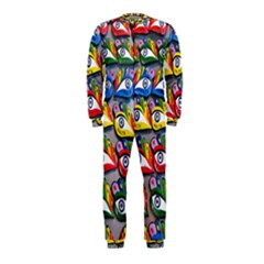 The Eye Of Osiris As Seen On Mediterranean Fishing Boats For Good Luck OnePiece Jumpsuit (Kids)