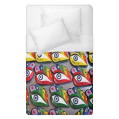 The Eye Of Osiris As Seen On Mediterranean Fishing Boats For Good Luck Duvet Cover (single Size)
