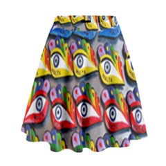 The Eye Of Osiris As Seen On Mediterranean Fishing Boats For Good Luck High Waist Skirt