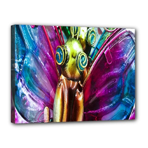 Magic Butterfly Art In Glass Canvas 16  x 12