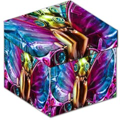Magic Butterfly Art In Glass Storage Stool 12