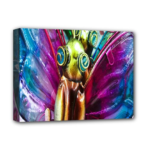 Magic Butterfly Art In Glass Deluxe Canvas 16  x 12