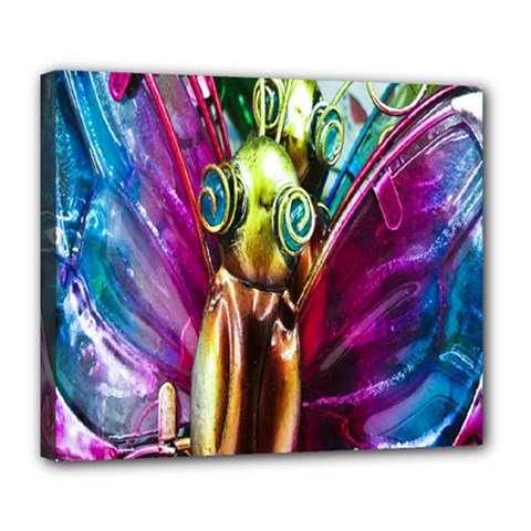 Magic Butterfly Art In Glass Deluxe Canvas 24  x 20