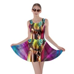 Magic Butterfly Art In Glass Skater Dress