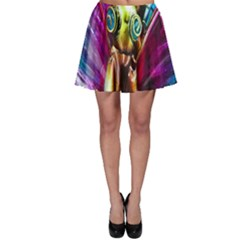 Magic Butterfly Art In Glass Skater Skirt