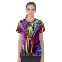 Magic Butterfly Art In Glass Women s Cotton Tee